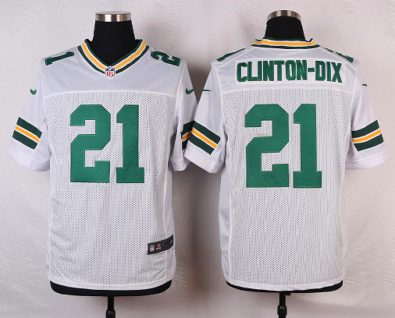 NFL Customize Green Bay Packers 21 Clinton-Dix Whie Men Nike Elite Jerseys