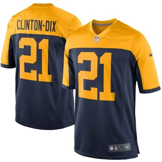 Green Bay Packers 21 Clinton-Dix Navy Alternate Game Jersey