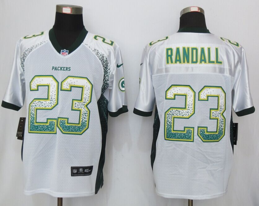 Green Bay Packers 23 Randall Drift Fashion White NEW Nike Elite Jerseys