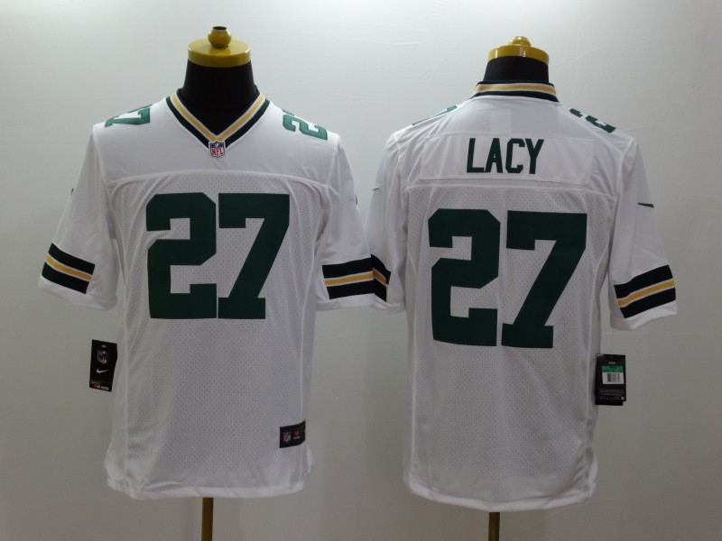 Green Bay Packers 27 Eddie Lacy White Nike Limited Jerseys