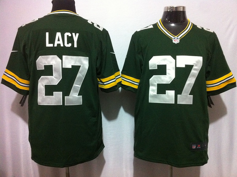 Green Bay Packers 27 Lacy Green Nike Game Jersey