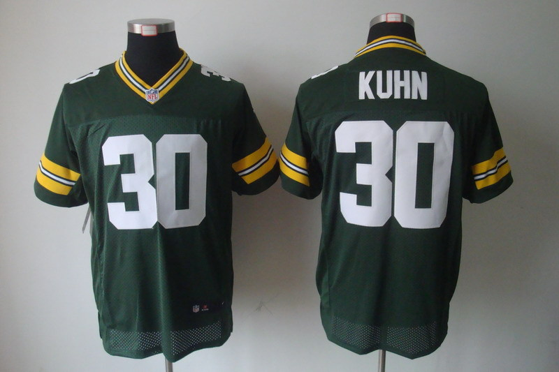 Green Bay Packers 30 John Kuhn Green Nike Elite Jerseys