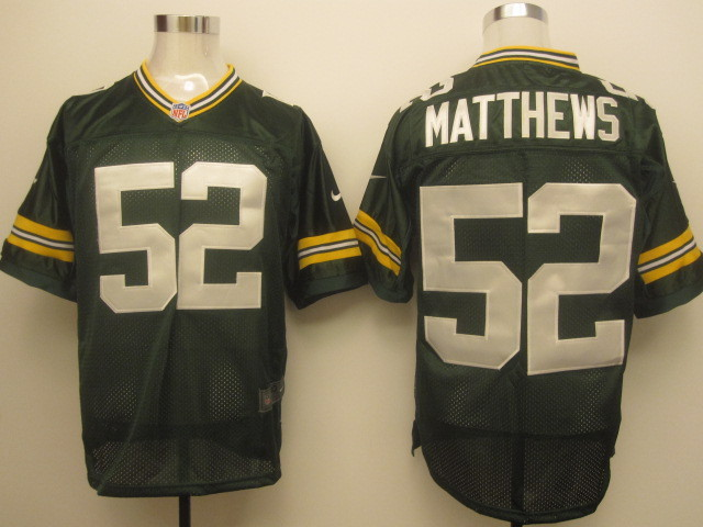 Green Bay Packers 52 Matthews Green Nike Elite Jersey