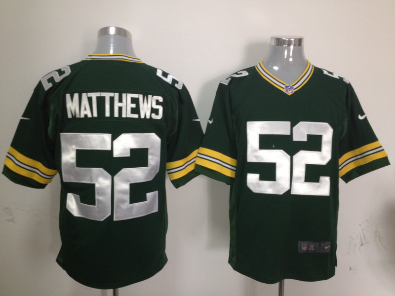 Green Bay Packers 52 Matthews Green Nike Game Jersey