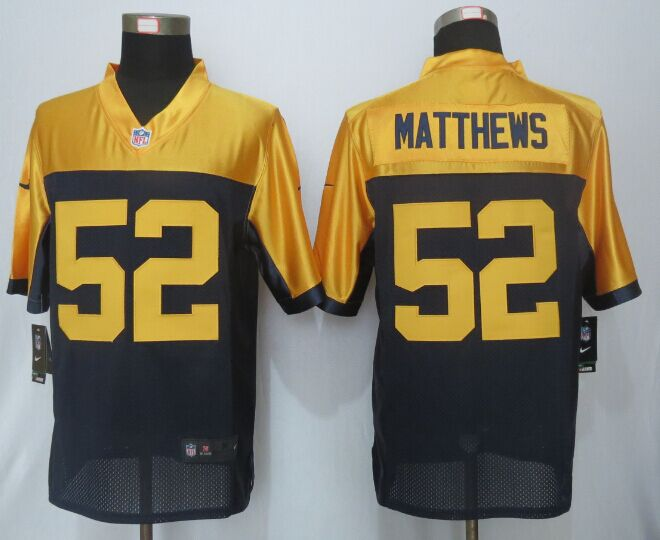 Green Bay Packers 52 Matthews Navy Blue Alternate 2015 Nike Limited Jersey