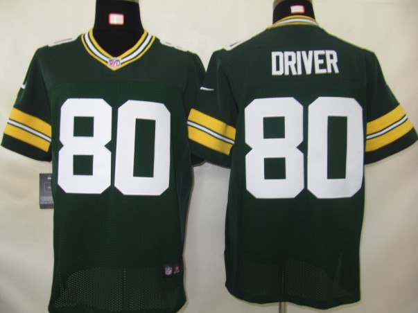Green Bay Packers 80 Driver Green Nike Elite Jersey