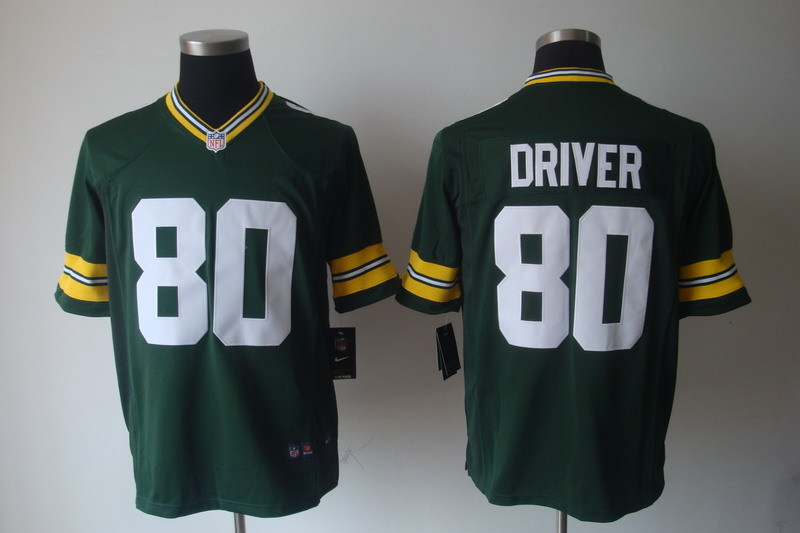 Green Bay Packers 80 Driver Green Nike Game Jerseys