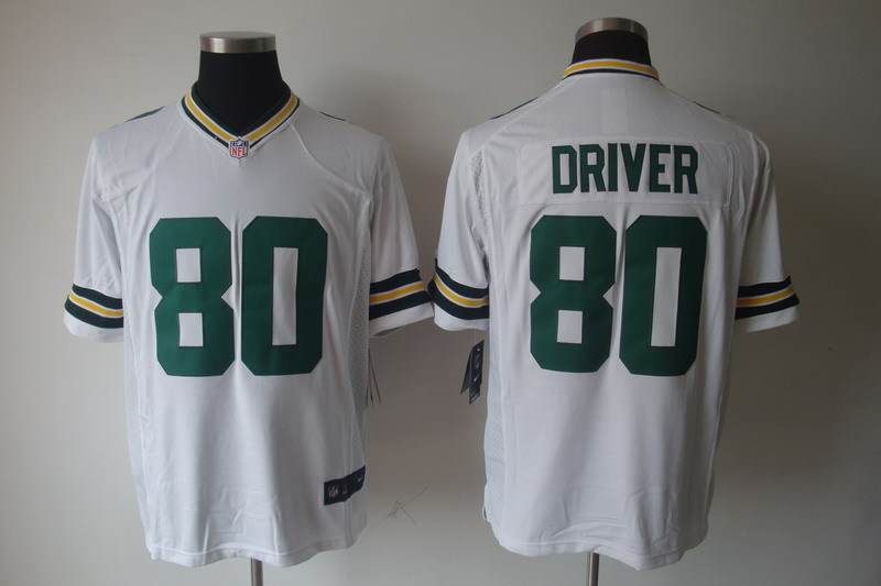 Green Bay Packers 80 Driver White Nike Game Jerseys