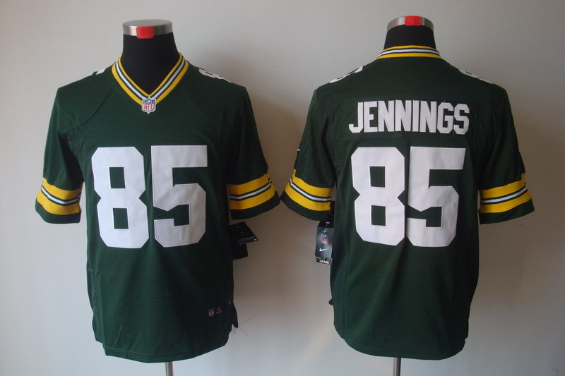 Green Bay Packers 85 Jennings Green Nike Game Jerseys