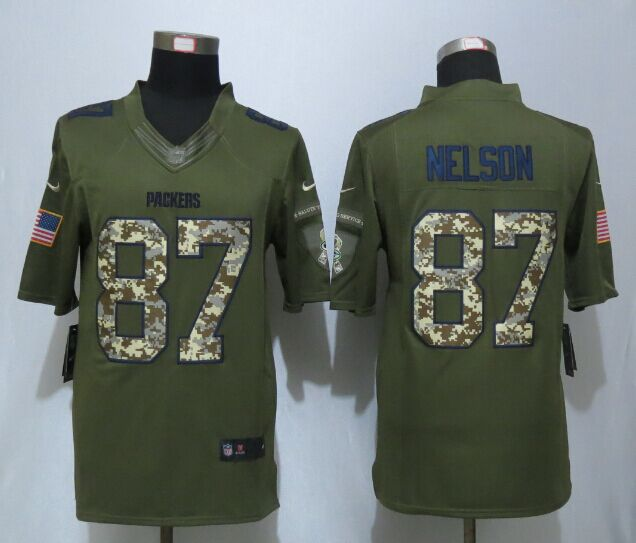Green Bay Packers 87 Nelson Green New Nike Salute To Service Limited Jersey