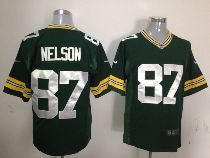 Green Bay Packers 87 Nelson Green Nike Game Jersey