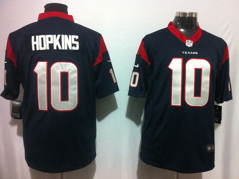 Houston Texans 10 Hopkins blue Nike Game Jerseys