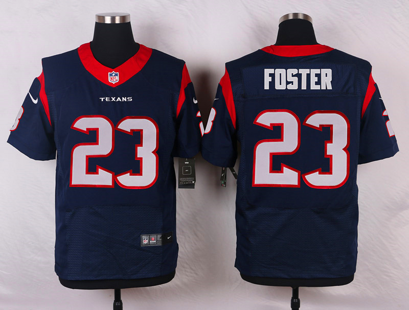 NFL Customize Houston Texans 23 Foster Blue Men Nike Elite Jerseys