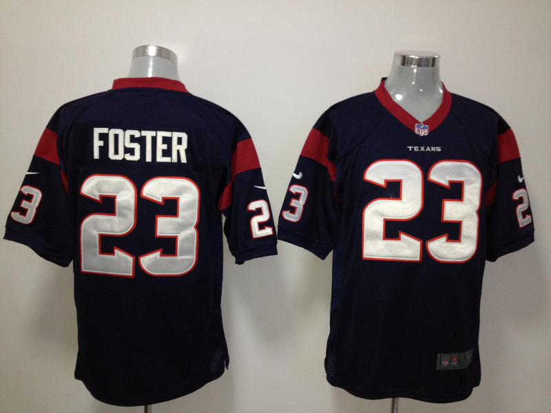 Houston Texans 23 Foster Blue Nike Game Jersey