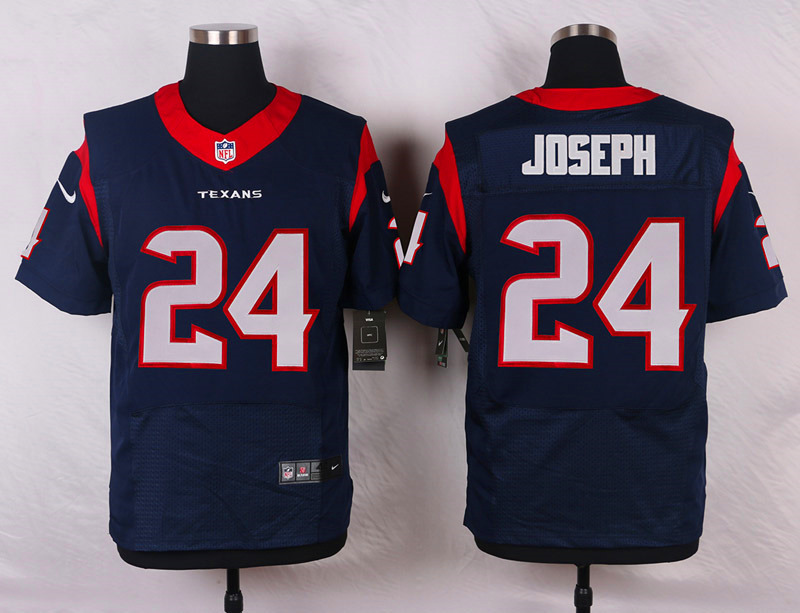 NFL Customize Houston Texans 24 Joseph Blue 2015 Elite Nike Jersey