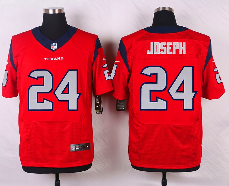 NFL Customize Houston Texans 24 Joseph Red 2015 Elite Nike Jersey