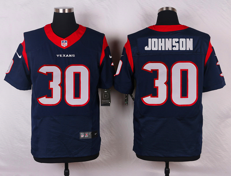 NFL Customize Houston Texans 30 Johnson Blue 2015 Nike Elite Jersey
