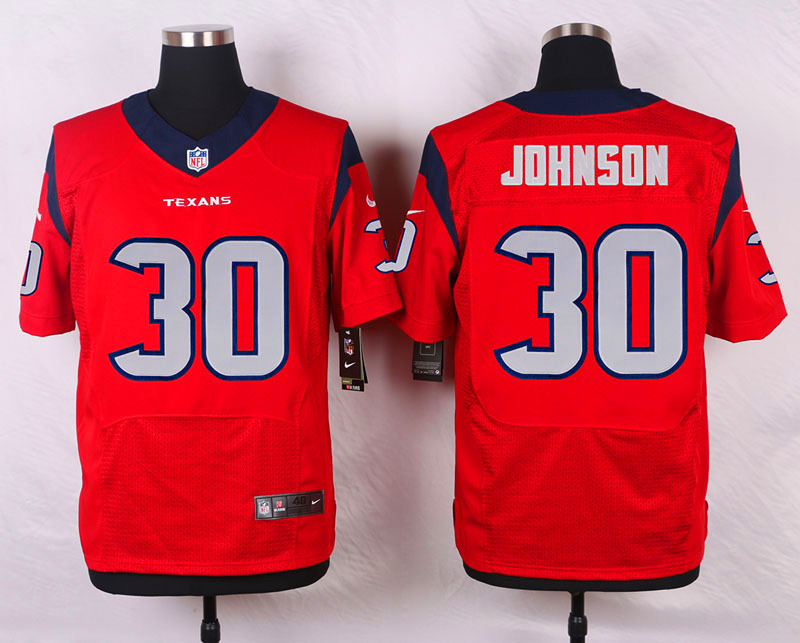 NFL Customize Houston Texans 30 Johnson RED 2015 Nike Elite Jersey