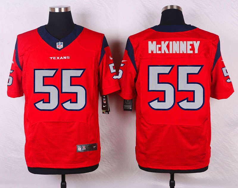 NFL Customize Houston Texans 55 Mckinney Red Men Nike Elite Jerseys