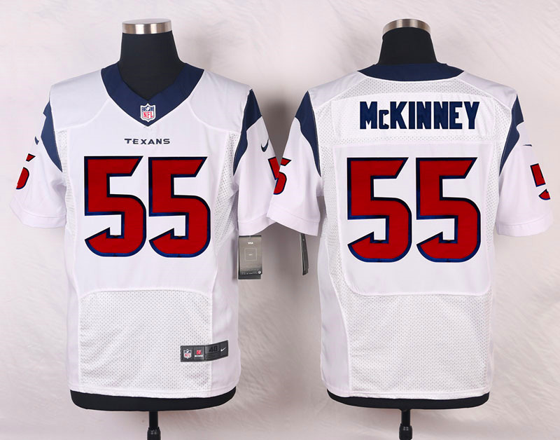 NFL Customize Houston Texans 55 Mckinney White Men Nike Elite Jerseys