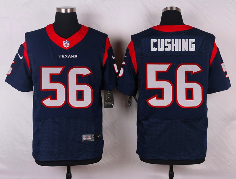 NFL Customize Houston Texans 56 Cushing Blue Men Nike Elite Jerseys