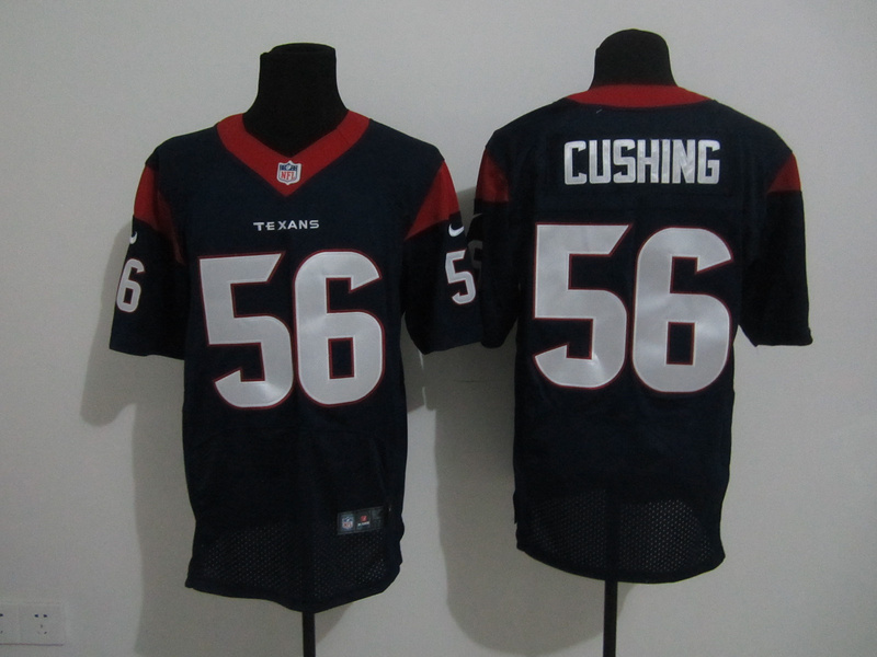 Houston Texans 56 Cushing Blue Nike Elite Jersey