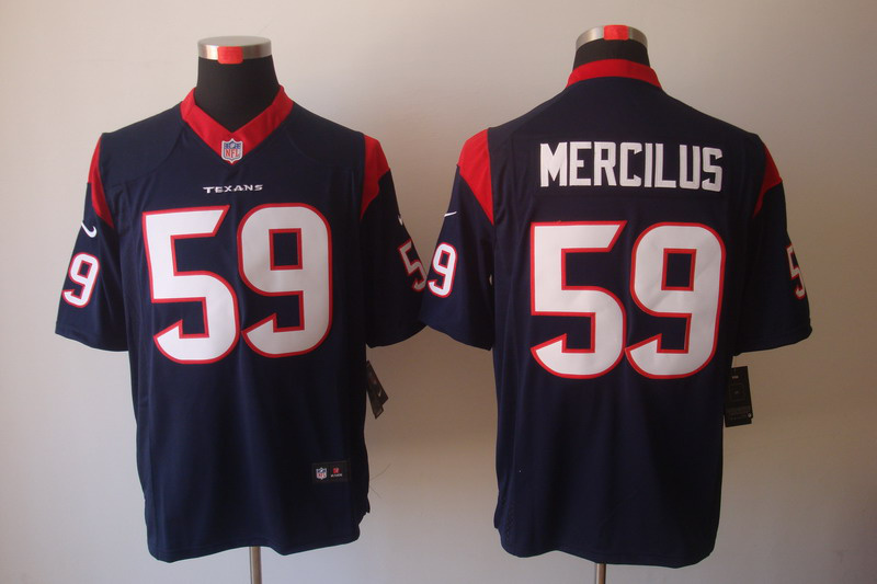 Houston Texans 59 Mercilus Blue Nike Game Jerseys