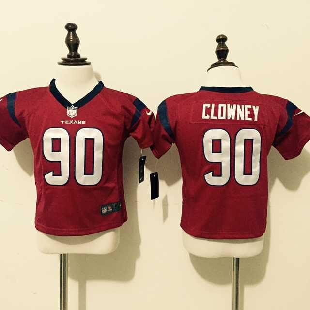 Houston Texans 90 Clowney Red Nike Baby Jersey