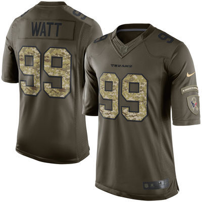 Houston Texans 99 Watt Army green 2015 Nike Salute To Service