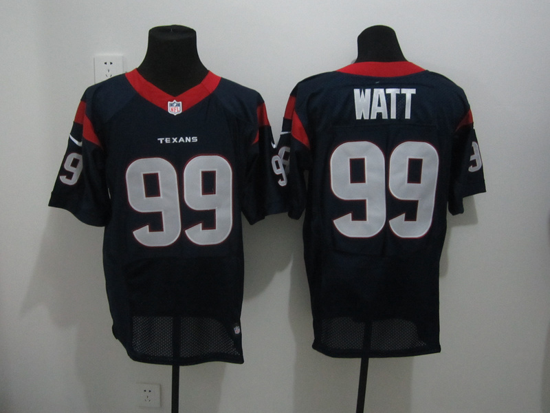 Houston Texans 99 Watt Blue Nike Elite Jersey