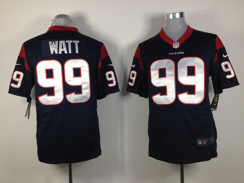 Houston Texans 99 Watt Blue Nike Game Jersey