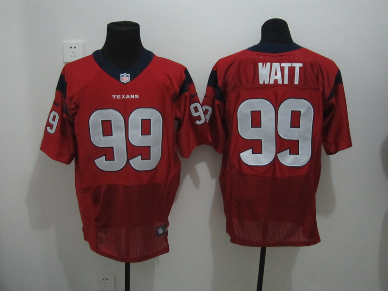 Houston Texans 99 Watt Red Nike Elite Jersey