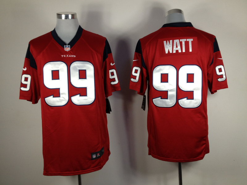 Houston Texans 99 Watt Red Nike Game Jersey