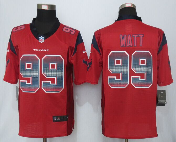 Houston Texans 99 Watt Red Strobe 2015 New Nike Limited Jersey