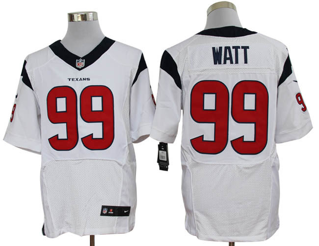 Houston Texans 99 Watt White Nike Elite Jerseys