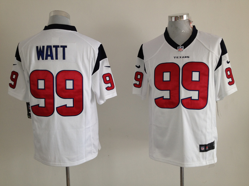 Houston Texans 99 Watt White Nike Game Jersey