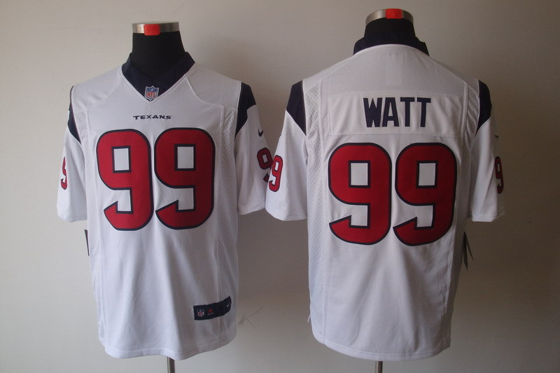 Houston Texans 99 Watt White Nike Game Jerseys