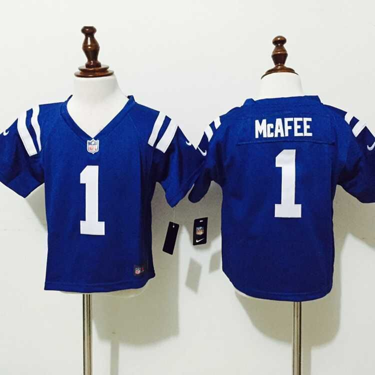 Indianapolis Colts 1 McAfee Blue New Nike Baby Jerseys