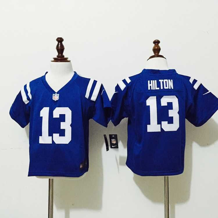 Indianapolis Colts 13 Hilton Blue New Nike Baby Jerseys