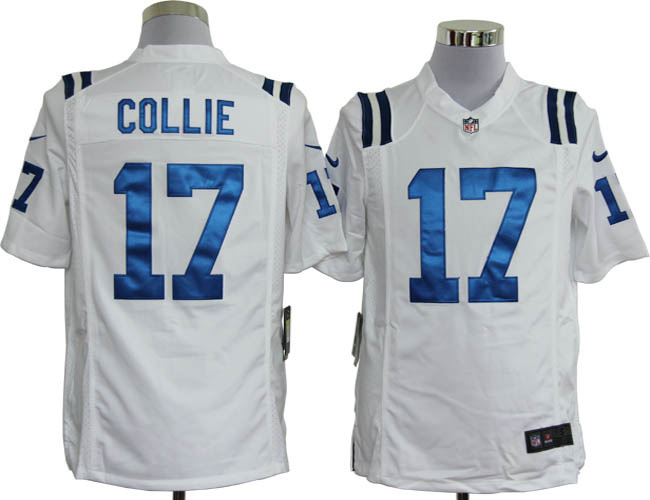 Indianapolis Colts 17 Collie White Nike Game Jerseys