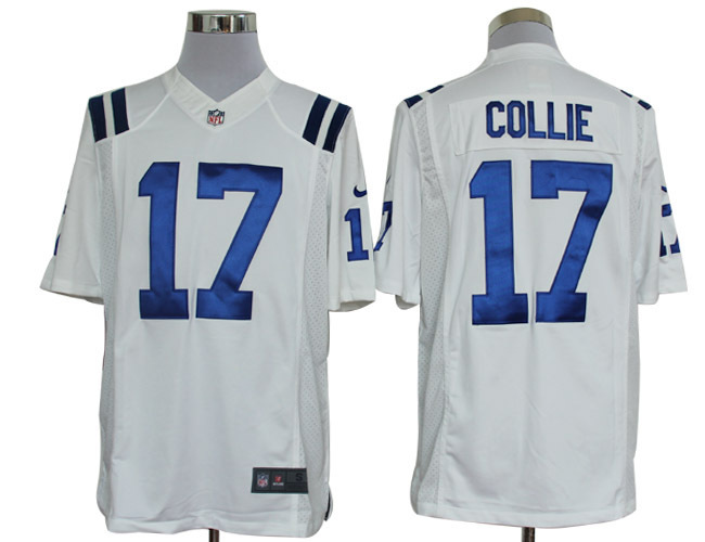 Indianapolis Colts 17 Collie White Nike Limited Jerseys