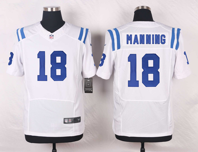 Indianapolis Colts 18 Manning White 2016 Nike Elite Jerseys