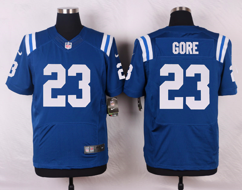 NFL Customize Indianapolis Colts 23 Frank Gore Royal Blue Men Nike Elite Jerseys