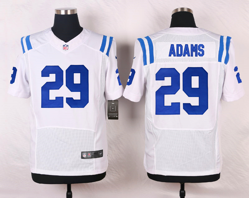 NFL Customize Indianapolis Colts 29 Adams White Men Nike Elite Jerseys