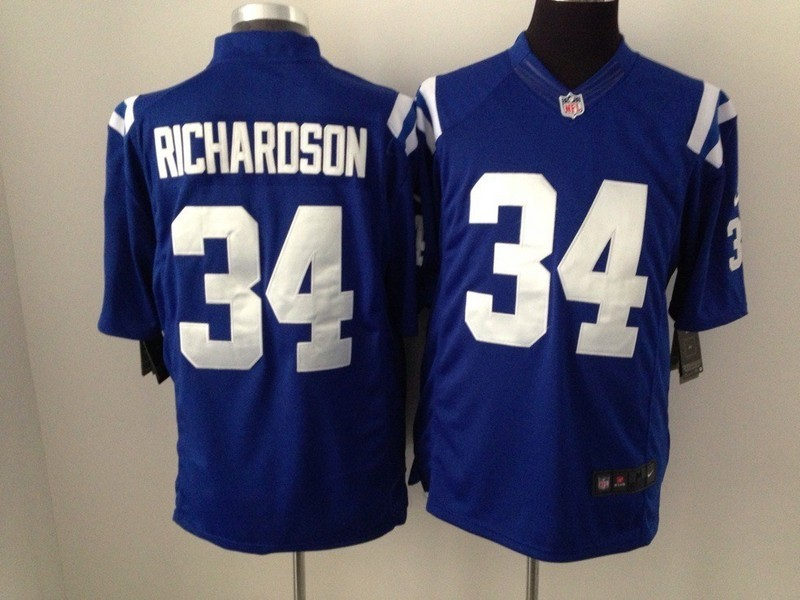 Indianapolis Colts 34 Robinson Blue 2015 Nike Game Jerseys