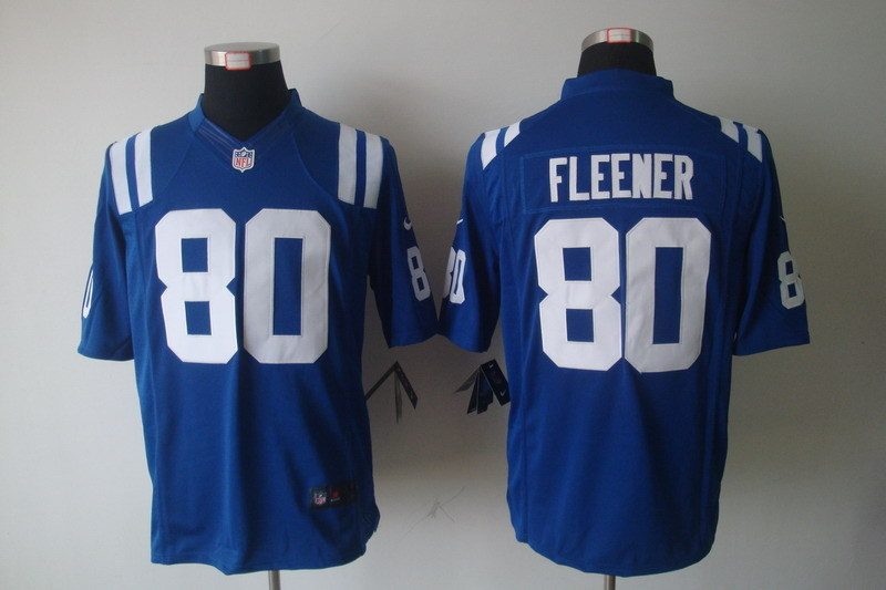 Indianapolis Colts 80 Fleener Blue Nike Limited Jerseys
