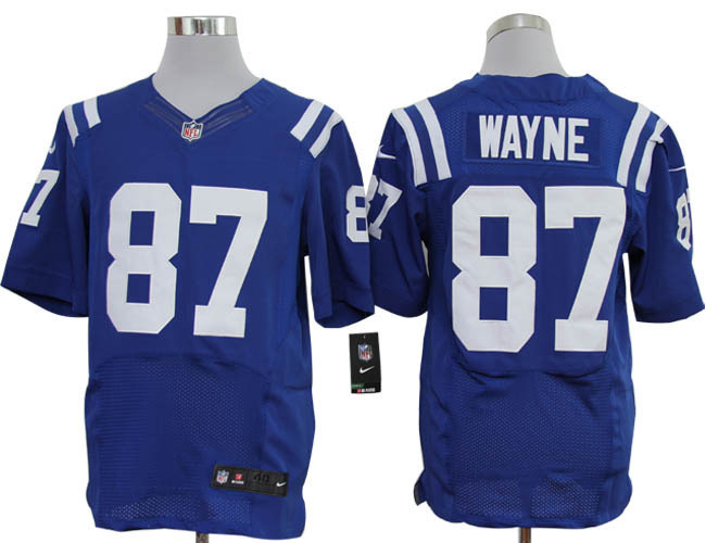 Indianapolis Colts 87 Wayne Blue Nike Elite Jerseys
