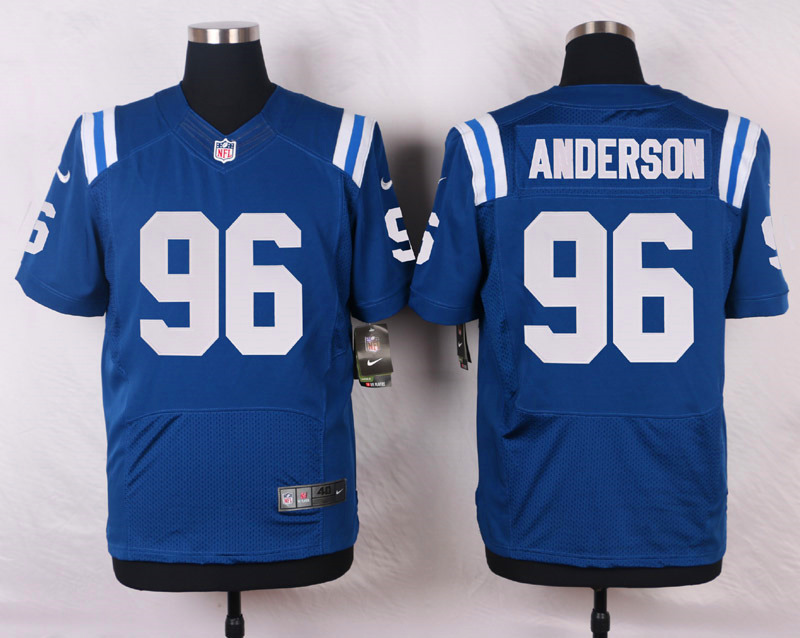 NFL Customize Indianapolis Colts 96 Anderson Blue Men Nike Elite Jerseys