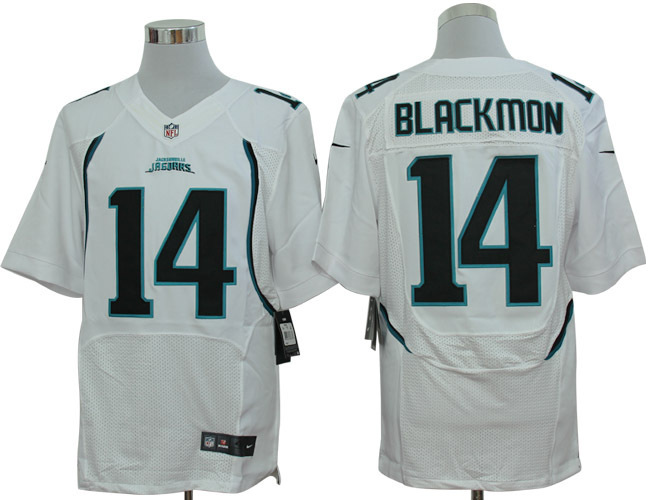 Jacksonville Jaguars 14 Blackmon White Nike Elite Jerseys