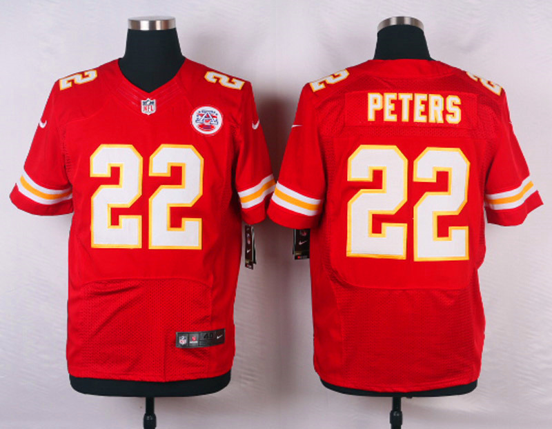 NFL Customize Kansas City Chiefs 22 Peters red Men Nike Elite Jerseys